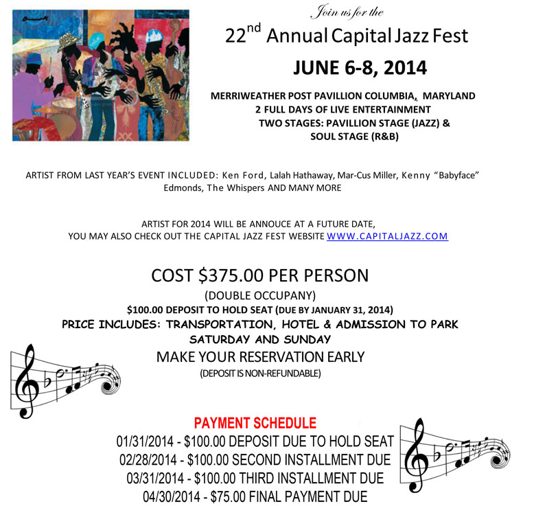 JOIN US FOR THE 22ND ANNUAL CAPITAL JAZZ FEST
