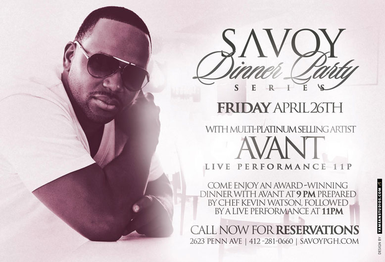 join multi platinum selling artist avant at the savoy dinner party