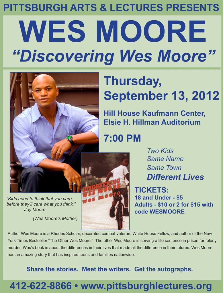 the other wes moore In the introduction, moore (the author) explains that the book tells the story of himself and another man named wes moore, both of whom were born in baltimore in somewhat similar circumstances however, where moore himself grew up to achieve great things, the other wes will spend every day of.